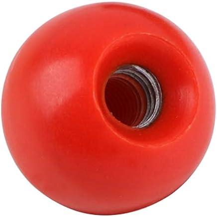 Black 5pcs Diameter 5mm Plastic Ball Thread Knob Ball Lever Knob Threaded Ball Handle Knob Accessories for Arcade Game for Machine Tools