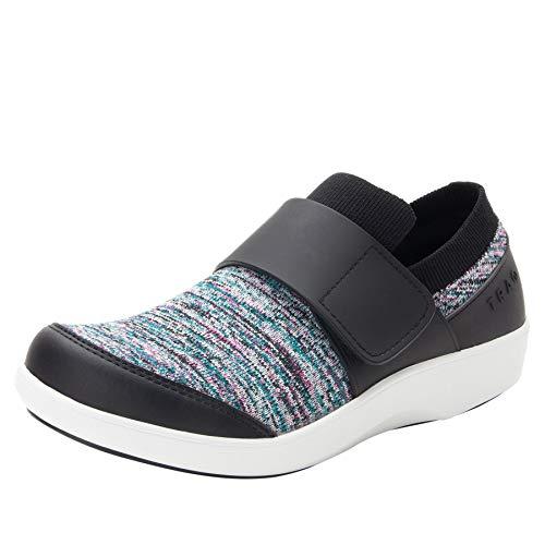 Alegria TRAQ Qwik Womens Smart Walking Shoe Flurry Black 8 M US