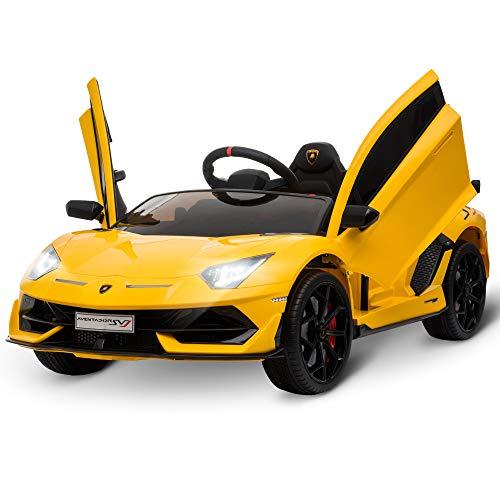 HOMCOM Coche Eléctrico para Niños de +3 Años Lamborghini SVJ Batería 12V...