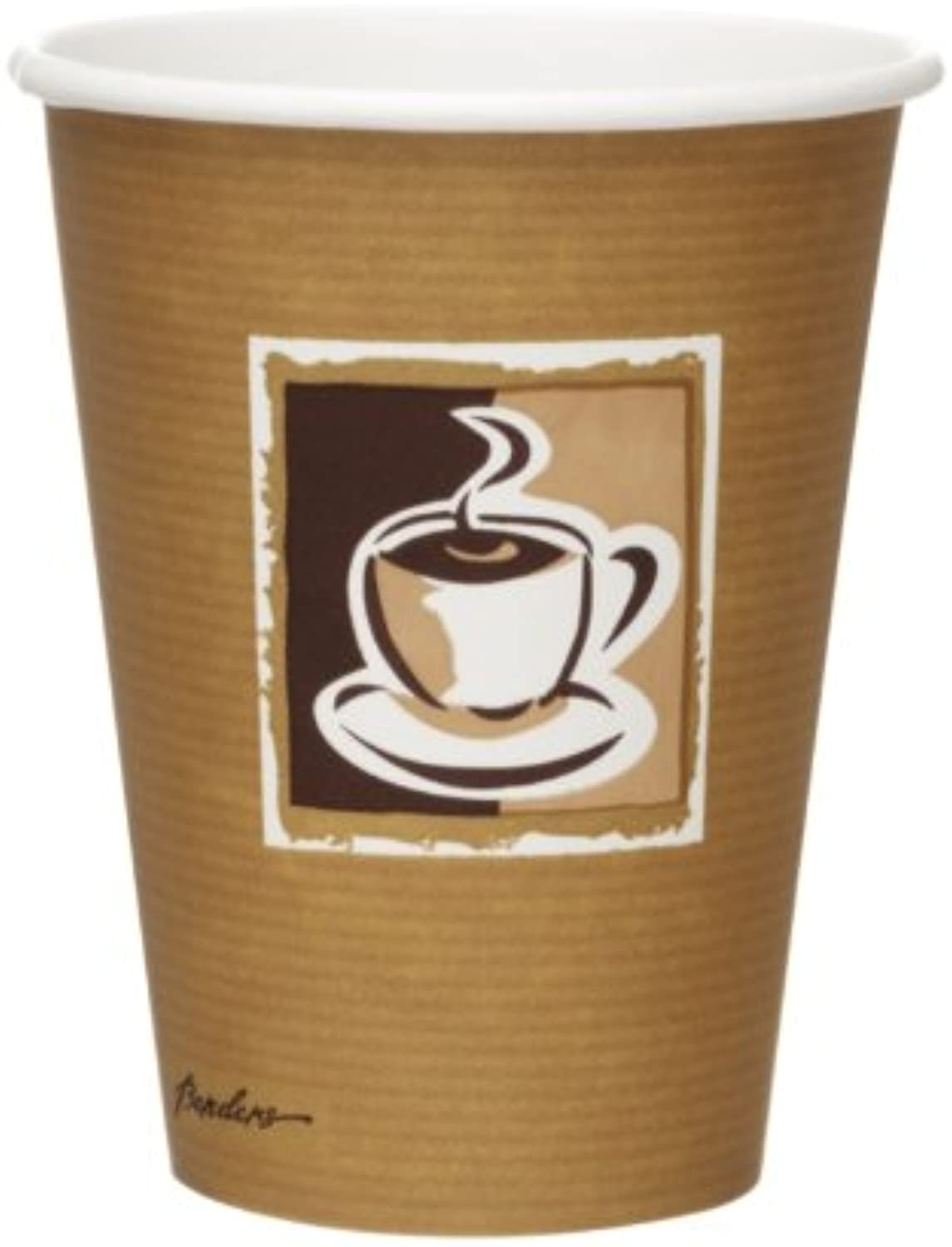 Bistro Single Wall Hot Cups - Capacity  12oz. Box Quantity  1000.