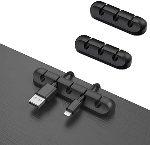 3 Pack Cable Clips Cord Organizer Wire Cord Holder for USB Charging Cable Mouse Cable Power product image