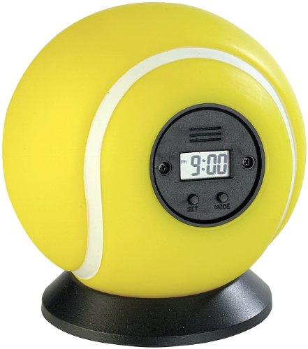 infactory Kinder Wecker: Wurfwecker Tennisball (Fliegender Wecker)