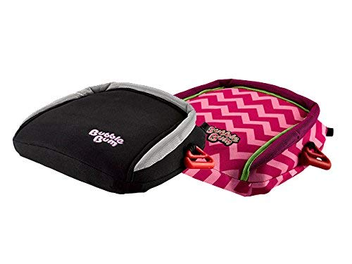 Amazing Deal BubbleBum Backless Inflatable Booster Car Seat, Black & Pink Chevron Bundle