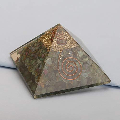 Energy Generator Ruby Fuchsite Orgone Pyramid EMF Protection Healing Crystal
