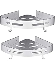 Hoomtaook doucheplank zonder boren badkamerplank badkamerplank aluminium zelfklevend lijm mat afwerking badkamerplank 2 stuks