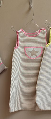 Fussenegger Baby-Schlafsack gestreift/Stern Gr. 70 cm bis 1 Jahr rosa