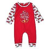 Geagodelia Baby Jungen Mädchen Strampler Overall Weihnachten Babykleidung Schlafstrampler Neugeborene Weiche Kleidung Weihnachtsoutfit My First Christmas (0-6 Monate, Rot - LKW)
