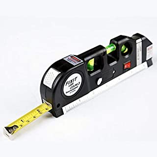 Laser Level Multipurpose Horizon Vertical Measure Tape Aligner 8FT