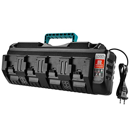 Powilling 4 Ports Rapid Replacement Charger for Milwaukee 18V XC Lithium Ion Battery 48-11-1850 48-11-1840 48-11-1815 48-11-1828 Milwaukee Charger