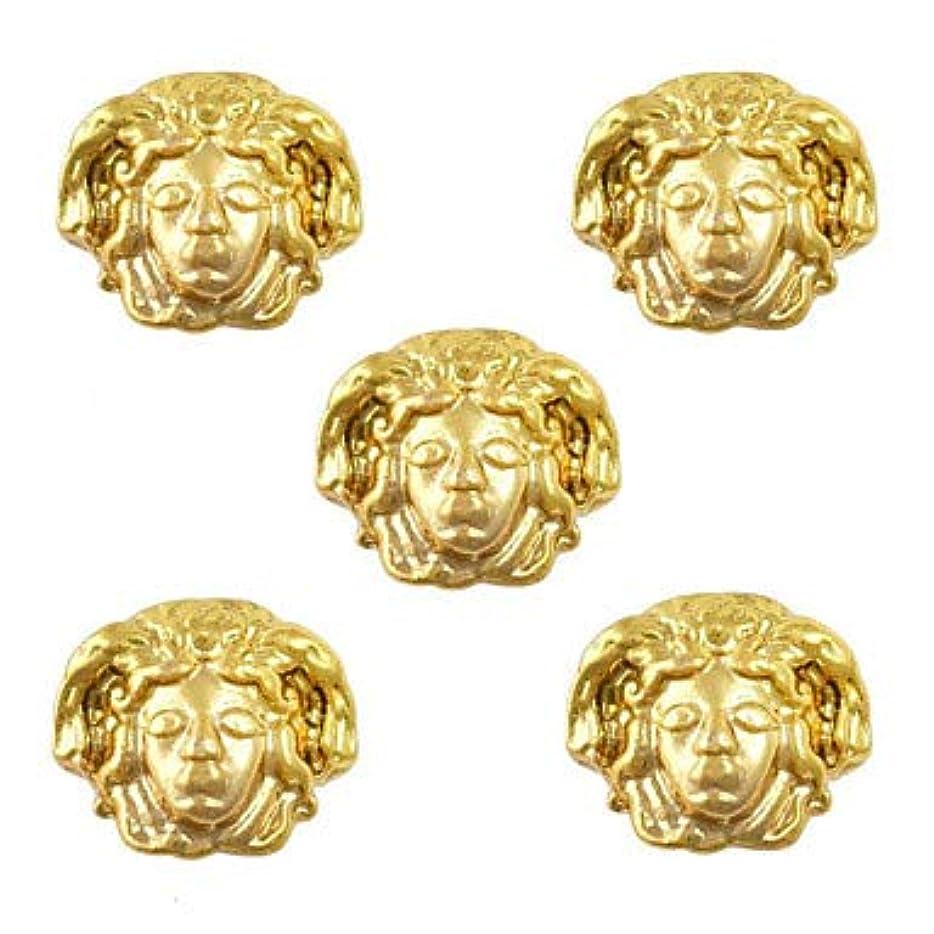 熱望する花瓶擬人化美容エジプトスタイルゴールドネイルチャーム3Dメタルネイルアートデコレーションアクセサリー用品ツール