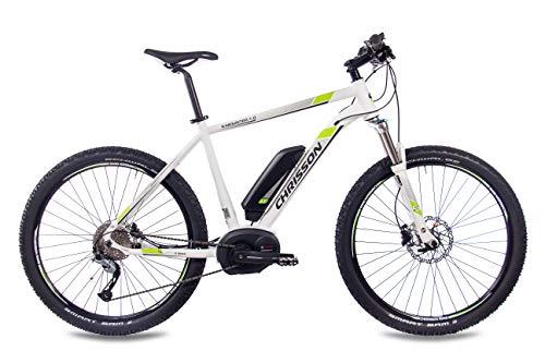 41ssjDIKHVL - CHRISSON 27,5 Zoll E-Bike Mountainbike Bosch - E-Mounter 1.0 Weiss 52cm - Elektrofahrrad, Pedelec für Damen und Herren mit Bosch Motor Performance Line 250W, 63Nm - Intuvia Computer und 4 Fahrmodi