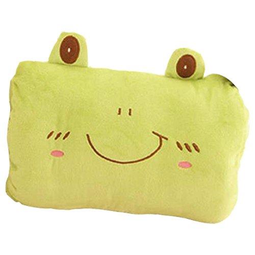 Grün Frosch Handwärmer Kissen kurze Plüsch Handwärmer Wederverwendbar,11.8x9\'\'