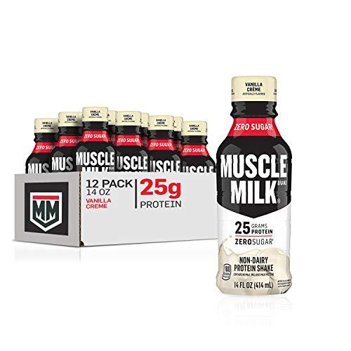 Muscle Milk Genuine Protein Shake, Vanilla Crème, 25g Protein, 14 Fl Oz, 12 Pack