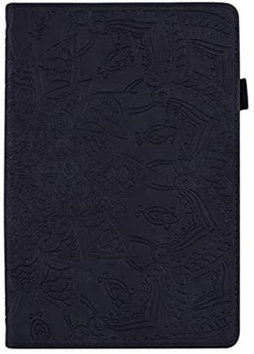 Accesorios De Pestañas para Huawei MediaPad M5 Lite 8 JDN2-W09 / AL00 8.0 Pulgadas, Cubierta En Relieve De La Flor De Cuero 3D Inteligente para Huawei Honor Pad 5 8 (Color : Black)