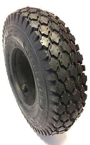 Reifen und Schlauch 4.10/3.50-6, kräftiges Blockprofil, 4 PR, Tragkraft 200 kg, Luftdruck 3,5 bar