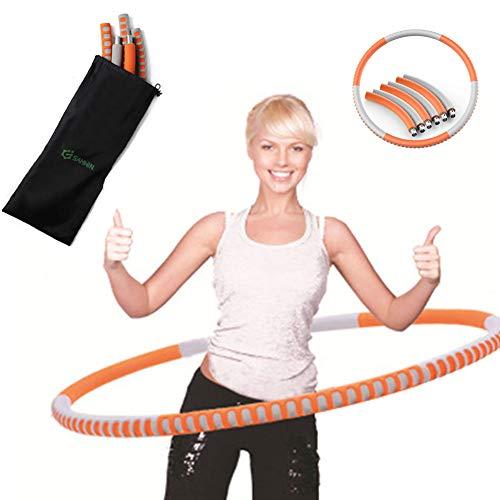 SAHWIN® Hula Hoop-Serie Zur Gewichtsreduktion,Reifen Mit Schaumstoff 1.5Kg Gewichten Beschwerter Hula-Hoop-Reifen Für Fitness,A