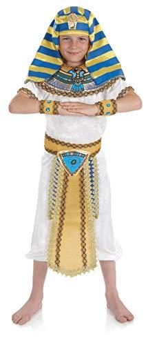 Fun Shack Disfraz de faraón Egipcio para niño. Conjunto histórico de Rey de Egipto para niño, Talla XL