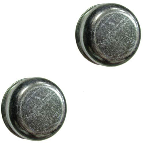 Valley Jinxiu Replaces Trailer 1.98  Inch Grease Cover Dust Cap 2k 3.5k 3,500 lb Axle Hub with Plug (2Pack)
