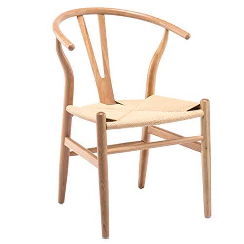 Dossier Fauteuil en Bois Chaise d'ordinateur créatif Chaise Chaise Minimaliste Moderne étude Maison Maquillage Tabouret Dossier Chaise (Color : Wood, Size : 50 * 45 * 78cm)