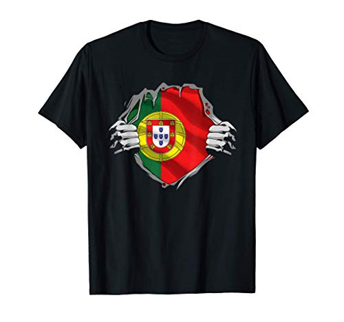 Super Portuguese Heritage Shirt Portugal Roots Flag Gift T-Shirt