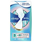 Always Infinity FlexFoam Pads for Women, Size 3 Extra Heavy Flow Absorbency, with Wings Unscented, 28 Count (Pack of 3, Total 84 Count)