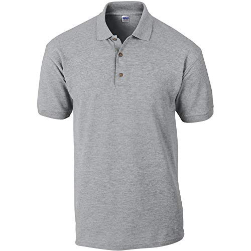 Polo en coton piqué Gildan pour homme (XL) (Gris sport)