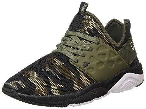 Kappa SAN Antonio, Chaussure de Piste d'athlétisme Mixte, Vert/Noir, 44 EU
