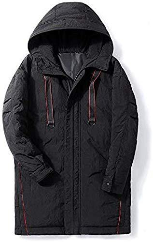 WANGXIAO heren donsjack, slanke lange sectie dikke werkkleding warme jas jeugd winter capuchon comfortabel tegen kou.