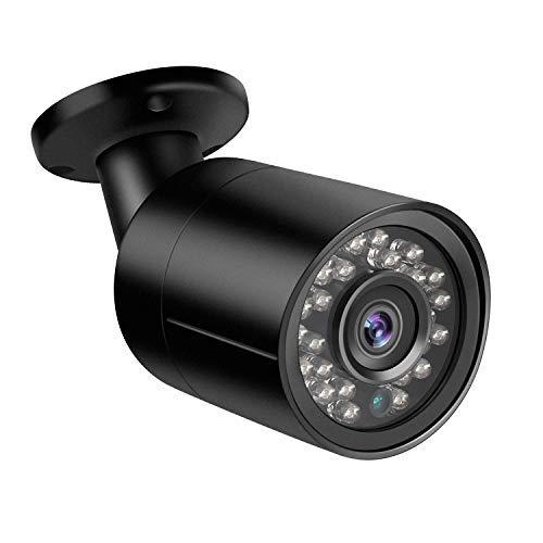 Telecamera da esterno Bullet Dericam 1080P 1920TVL, Telecamera analogica HDCVI HDTVI AHD 960H, Custodia metallica IP66, Visore notturno da 25 metri, 85° Visualizzazione, Formato video PAL, B2B, Nero