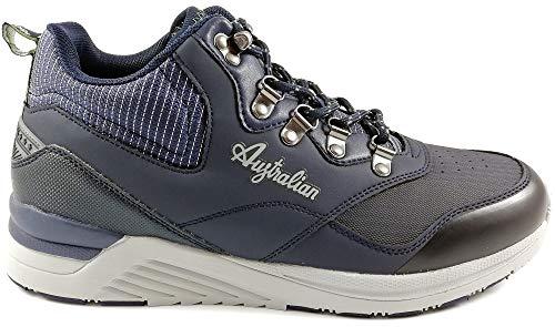 Australian AU775 Herren-Stiefel, Marineblau, Sneakers Gymnastikschuhe Casual Man, Schnürsenkel, Blau - Marineblau - Größe: 43 EU