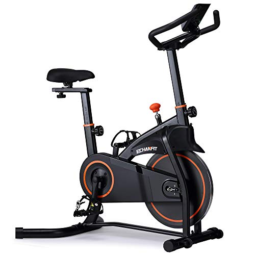 ECHANFIT Indoor Exercise Bike Stationary Cycling with Quiet Smooth Belt Magnetic Resistance for Cardio Training Fitness at Home and Studio