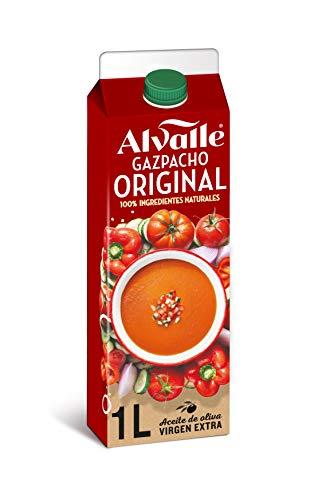 Alvalle Gazpacho Original – 100% natürlich – Spanische Gemüsesuppe mit Tomaten und Paprika – Verzehrfertig zum kalt Servieren und Essen – 1 x 1,0 l