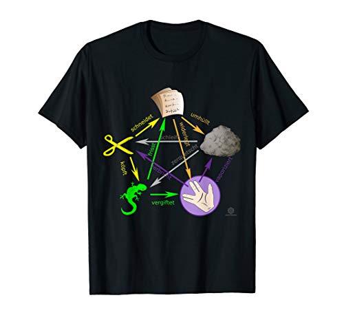 Schere Stein Papier Echse Big Bang Sheldon I Geschenk T-Shirt