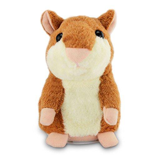 Mystery Hámster Hablando de Peluche - Repite lo Que Dices Talking Hamster Juguetes Divertidos Interactivo Animales Juguetes Cumpleaños/Reyes Magos para Niños Bebé 3 x 5.7 Pulgadas(A)