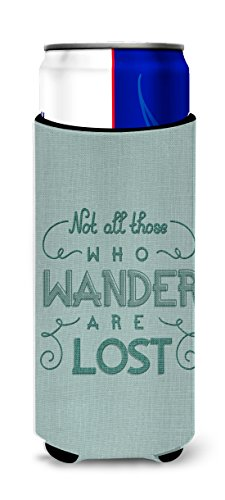 Caroline's Treasures BB5466MUK Not All Who Wander are Lost Michelob Ultra Hugger for slim cans, Slim Can, multicolor