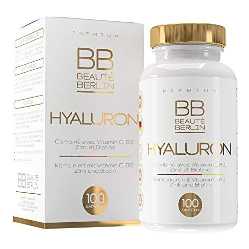BB BEAUTÉ BERLIN Premium Hyaluronsäure Kapseln - mit Vitamin C und Biotin - 100 Kapseln