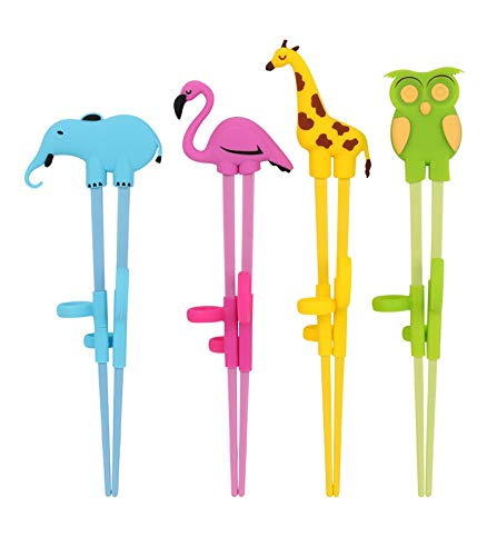 Training Chopstick, Multi Animal Cutlery, Childrens Learning Chopsticks with Helpers, for Kids Child Adults Beginners Right or Left Handed
