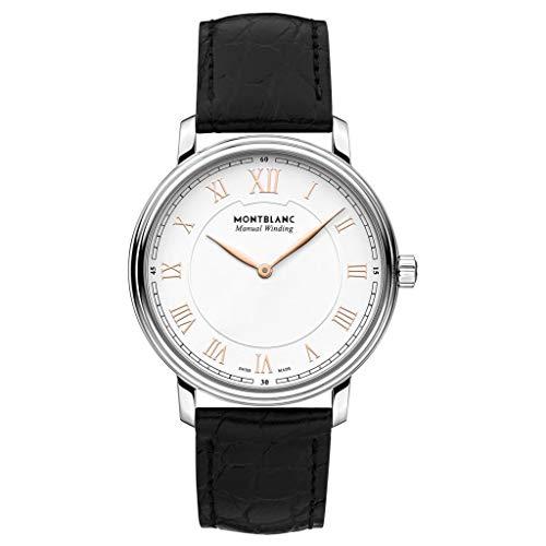 Montblanc orologio uomo Tradition Manual Winding 40mm cinturino Pelle Nero 119962