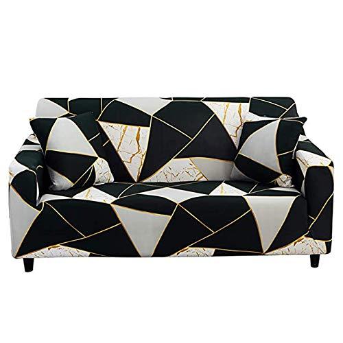 YWTT Sofabezug High Stretch Elastic Fabric 1 2 3-Sitzer Sofa Schonbezug Stuhl Loveseat Couchbezug Polyester Spandex Möbelschutzbezug für Wohnzimmer (4-Sitzer)