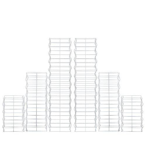 [pro.tec] Säulen Gabionen 6er-Set Grundriss rechteckig 25cm 115 75 45 cm hoch Steingabionen Spalier
