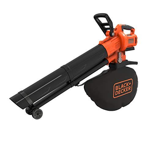 Black+Decker Aspirateur-Souffleur-Broyeur sans fil Lithium 36V - Ratio de Broyage 10/1, 270km/h - 8,8m3/min - sans Batterie - BCBLV36B, Orange/Noir