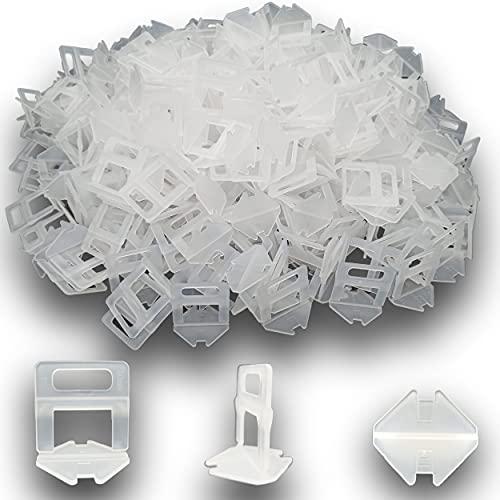 Lot de 500 croisillons autonivelant pour joint de carrelage de 2 mm -systeme de croisillon/clips pour nivellement de carreaux murs/sols - aide à la pose bricoleur et professionnel simple et rapide