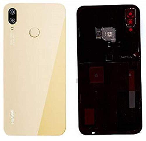 Akkudeckel für Huawei P20 LITE Akkudeckel Backcover Rückseite Gold/Klebefolie/Sensor