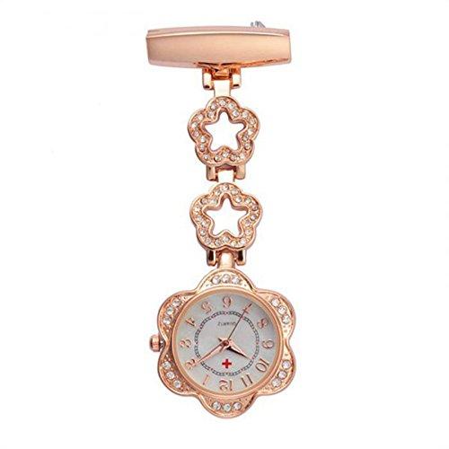Forepin Schwesternuhr Taschenuhr Pulsuhr Brosche Uhr Krankenschwester Uhren
