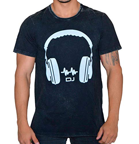 Camiseta Headphone DJ com Fecho nas Laterais (M)