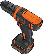 Black and Decker Drill Driver, 10.8V,Ultra Compact Lithium-ion Drill Driver With Hand Tools set and Bag,BDCDD12HTSA-B5 - Multi Color