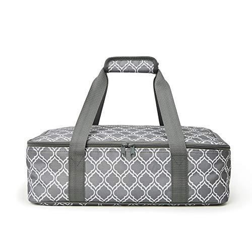 FATOLXX Insulated Casserole Carry Bag - Decker Casserole Carrier Tote Food Bag Potluck Parties,Picnic,Cookouts,Traveling,Beach(Laurel Green -1)