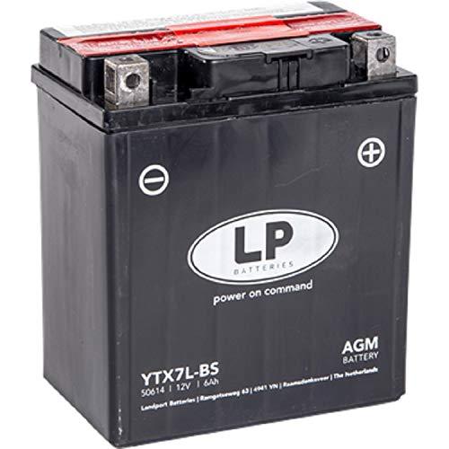 YTX7L-BS DIN 50614 Landport AGM Motorroller Batterie 12V 6Ah 113x70x130 LxBxH