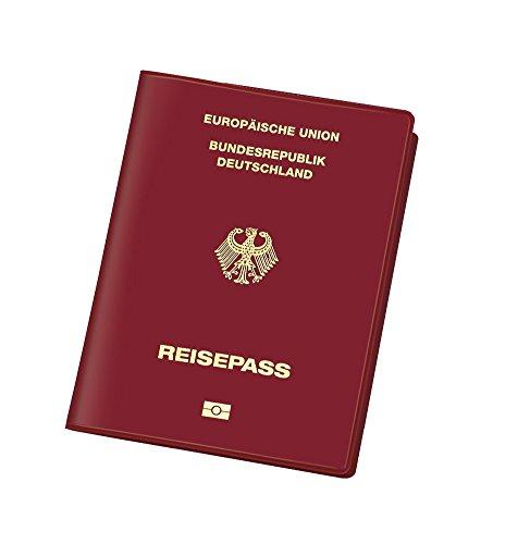 Veloflex 3259800 Document Safe Hülle, Reisepasshülle, RFID/NFC-Schutz, Schutzhülle, 100 x 135 mm, weinrot