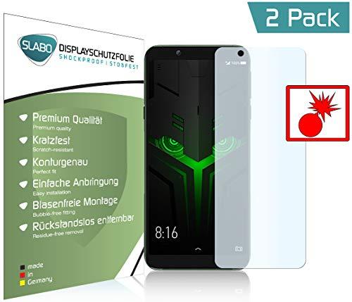 Slabo 2 x Panzerschutzfolie für Xiaomi Black Shark Helo Panzerfolie Bildschirmschutzfolie Schutzfolie Folie Shockproof KLAR